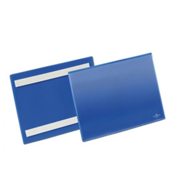Buste identificative con bande adesive - formato A5 orizzontale (210x148 mm) - Durable - conf. 50 pezzi