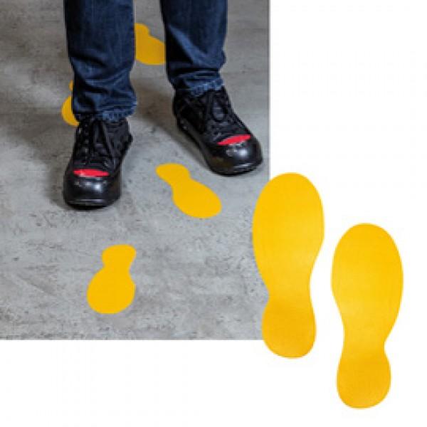 Adesivi da terra - Impronte di piedi - 9x24 cm - Durable - conf. 5 paia