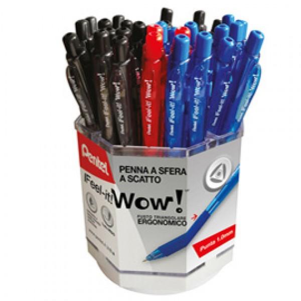 Penna sfera Wow - colori assortiti - Pentel - expo 96 pezzi