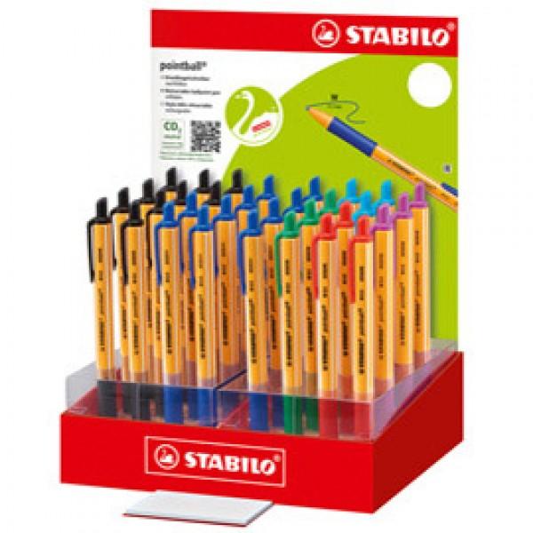 Penna Pointball - colori assortiti - Stabilo - expo 32 pezzi