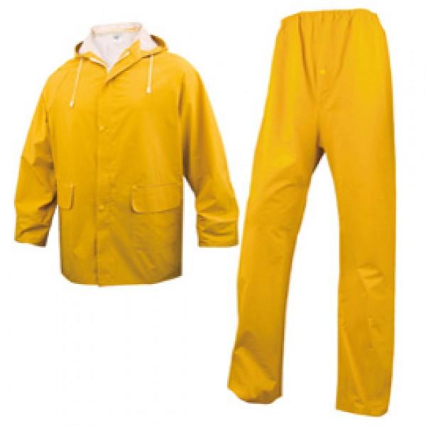 Completo impermeabile EN304 - giacca + pantalone - poliestere/PVC - taglia XXL - giallo - Deltaplus