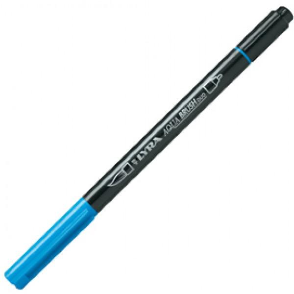 Pennarello a 2 punte AQUA BRUSH DUO azzurro LYRA (Conf. 10)