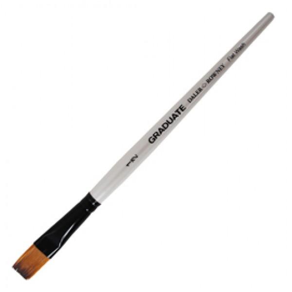 Pennello sintetico Graduate - piatto quadrato - manico corto - n. 1/2 - Daler Rowney