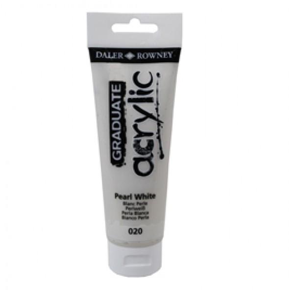 Colore acrilico fine Graduate - 120 ml - bianco perla - Daler Rowney