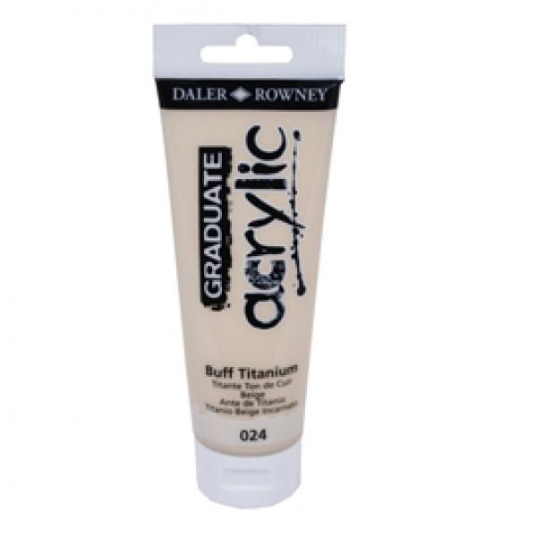 Colore acrilico fine Graduate - 120 ml - titanium buff - Daler Rowney