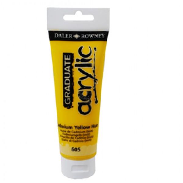 Colore acrilico fine Graduate - 120 ml - giallo cadmio imitazione - Daler Rowney