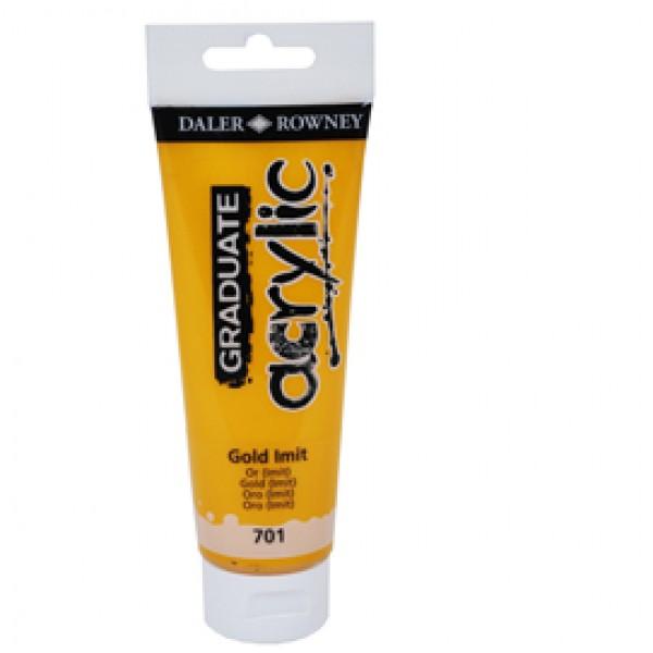Colore acrilico fine Graduate - 120 ml - oro imitazione - Daler Rowney