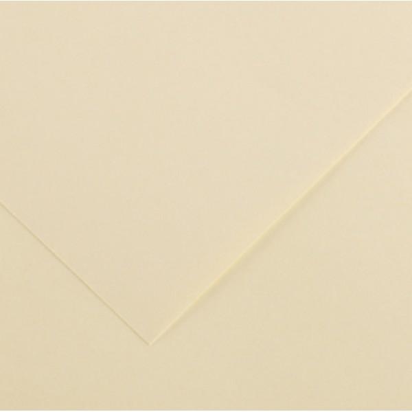 Foglio Colorline - 70x100 cm - 220 gr - crema - Canson