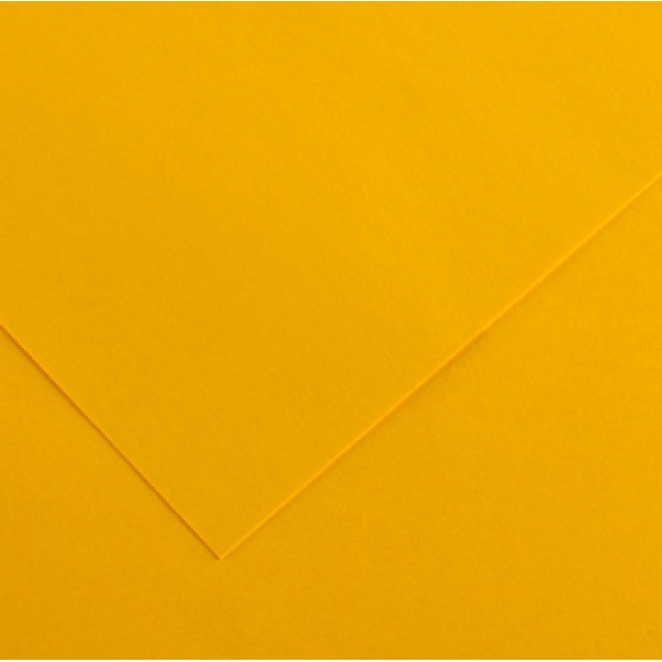 Foglio Colorline - 70x100 cm - 220 gr - giallo oro - Canson