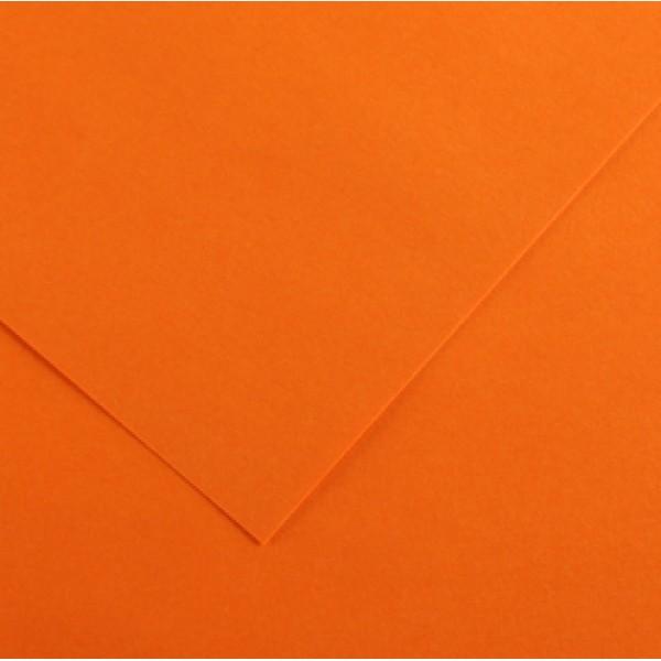 Foglio Colorline - 70x100 cm - 220 gr - arancione - Canson