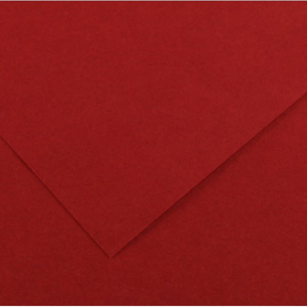 Foglio Colorline - 70x100 cm - 220 gr - rosso granata - Canson