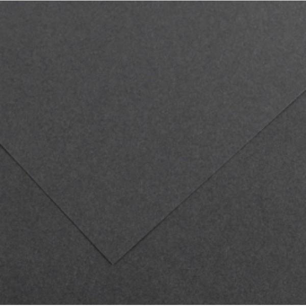 Foglio Colorline - 70x100 cm - 220 gr - grigio scuro - Canson