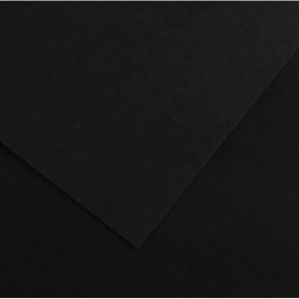 Foglio Colorline - 70x100 cm - 220 gr - nero - Canson