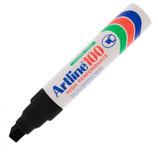 Marcatore permanente A 100 - punta scalpello jumbo - 7,50 - 12,00 mm - nero - Artline