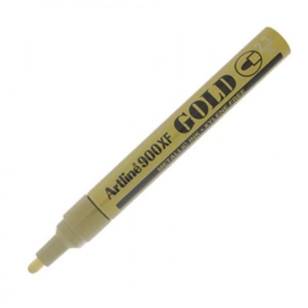 Marcatore permanente A 900 - a vernice - punta tonda - 2,3 mm - oro - Artline