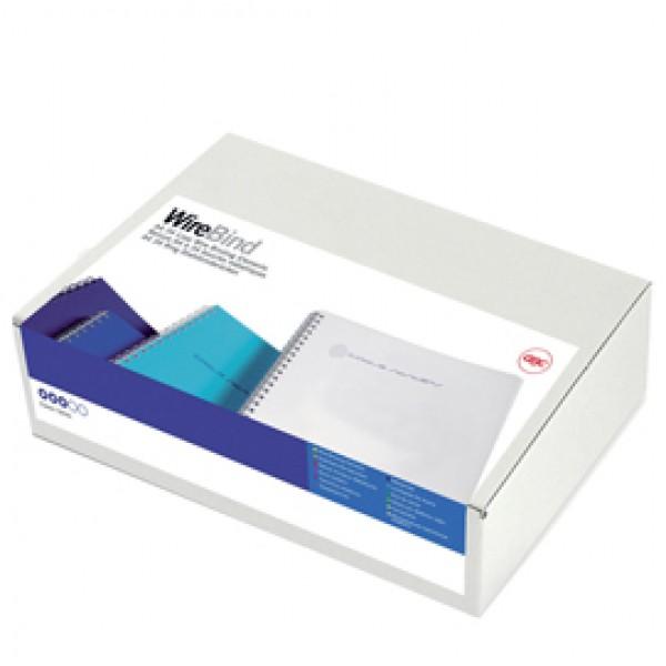 Dorsi WireBind per rilegatura - passo 3:1 - metallo - 34 anelli - 5 mm - bianco - GBC - scatola 100 pezzi