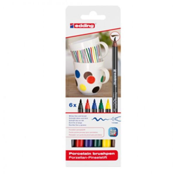 Marcatore per porcellana E4200 - colori assortiti - Edding - astuccio 6 pezzi