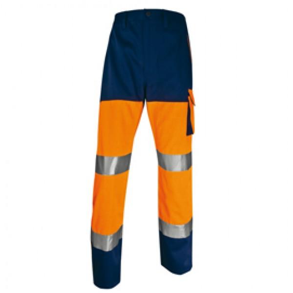 Pantalone alta visibilità PHPA2 - sargia/poliestere/cotone - taglia M - arancio fluo - Deltaplus