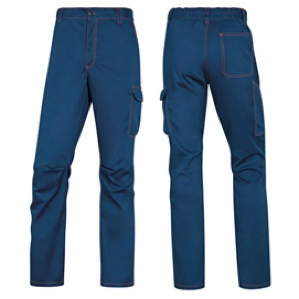 Pantalone da lavoro Panostrpa - sargia/poliestere/cotone/elastan - taglia XXL - blu/arancio - Delta Plus