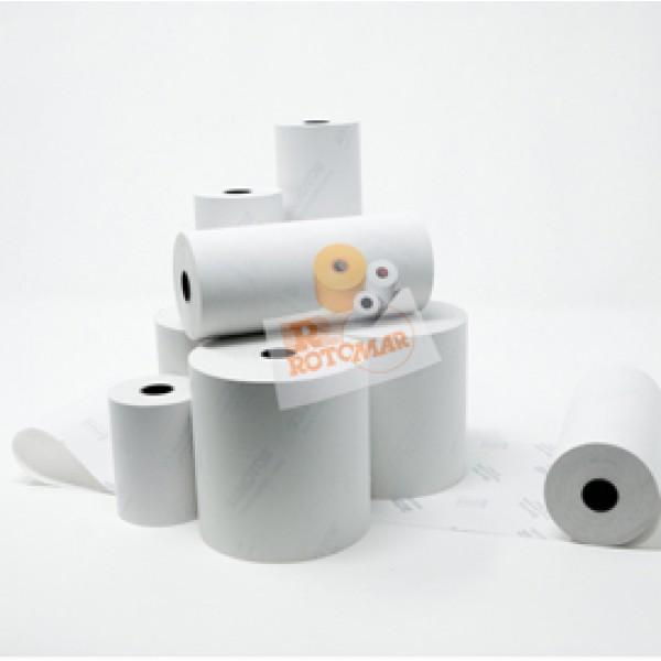 Rotolo per calcolatrici e stampanti - carta termica BPA free - 57 mm x 25 mt - diametro esterno 55 mm - 55 gr - anima 12 mm - Rotomar - blister 10 pezzi