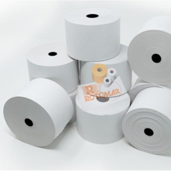 Rotolo per distributori self service - carta termica BPA free - 57 mm x 100 mt - diametro esterno 90 mm - 55 gr - anima 12 mm - Rotomar