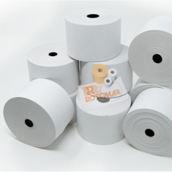 Rotolo per distributori self service - carta termica BPA free - 59,5 mm x 85 mt - diametro esterno 90 mm - 70 gr - anima 18 mm - Rotomar