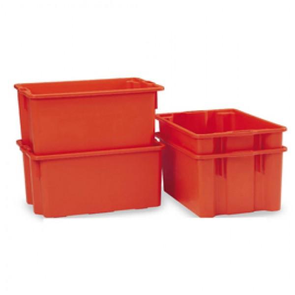 Contenitore a cassa aragosta - HDPE - 63x44x34 cm - 65 L - arancio - Mobil Plastic