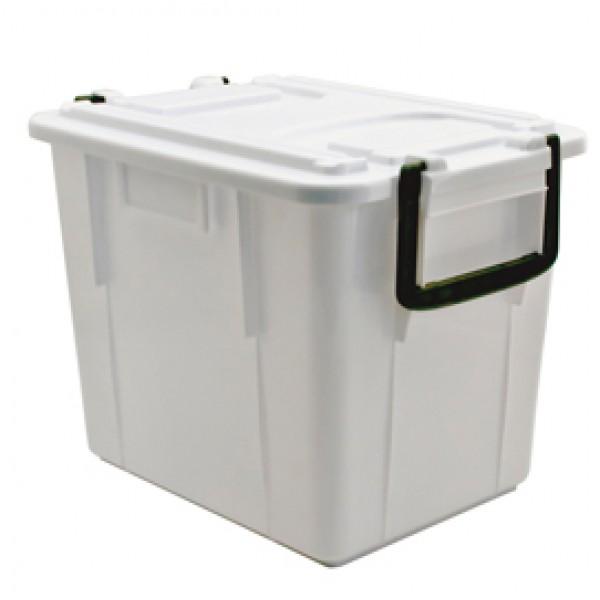 Contenitore Foodbox con coperchio - 38x28x30 cm - 20 L - PPL riciclabile - bianco - Mobil Plastic