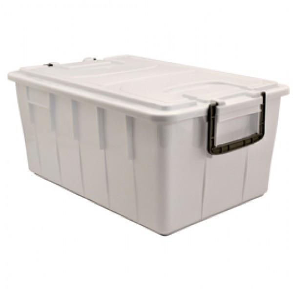 Contenitore Foodbox con coperchio - 58x38x26 cm - 40 L - PPL riciclabile - bianco - Mobil Plastic