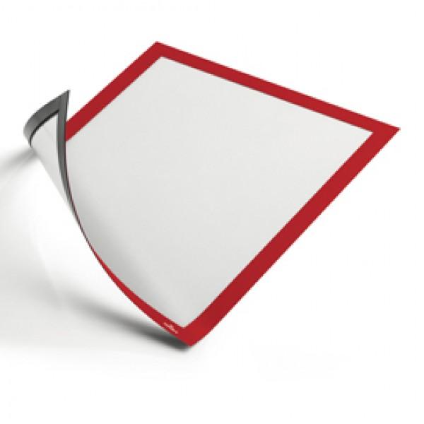 Cornice magnetica duraframe - A4 - 21x29,7cm - Rosso - Durable