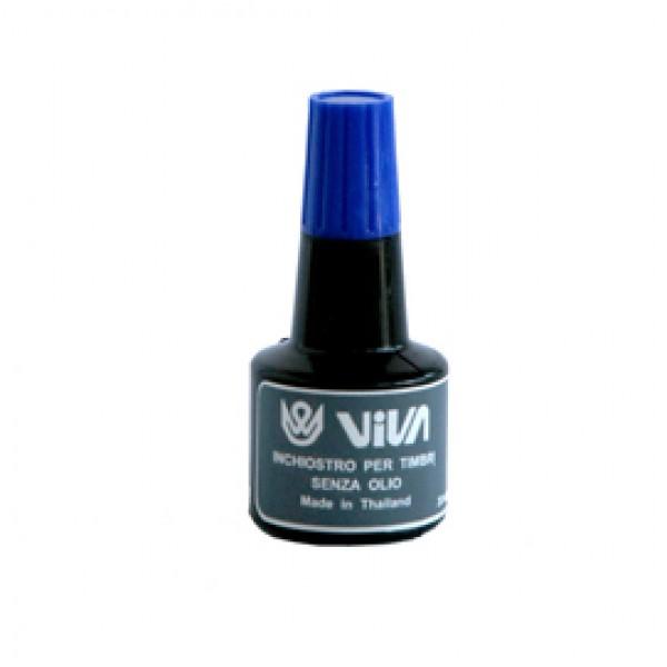 Inchiostro per cuscinetti  - a base d'acqua -  30gr - blu - Viva