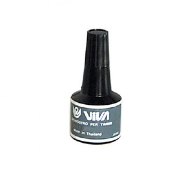 Inchiostro per cuscinetti  - a base d'olio -  30gr - nero - Viva