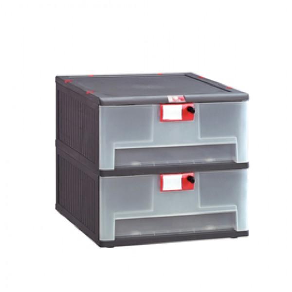 Cassettiera in PP 2 cassetti Mopla 102 - MOP102.GR
