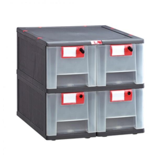 Cassettiera in PP 4 cassetti Mopla 104 - MOP104.GR