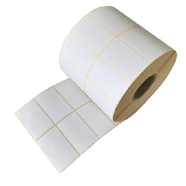 Etichette per trasferimento termico diretto - 40x12 mm - 2 piste - Printex - rotolo da 5000 pezzi