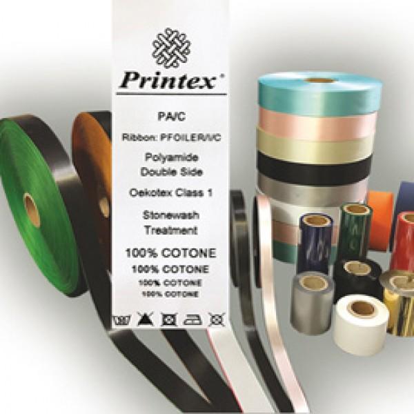Nastro in tessuto - per trasferimento termico - 30 mm - Printex - rotolo da 50 m