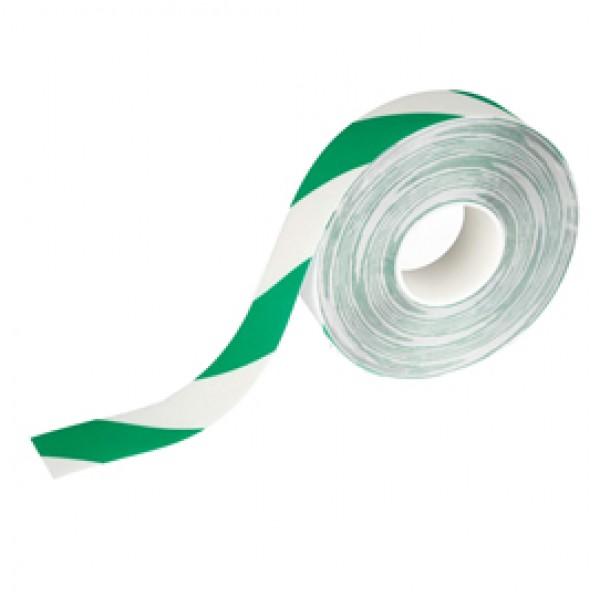 Nastro adesivo da pavimento - extra forte - 50 mm - verde/bianco - Durable - rotolo da 30 m