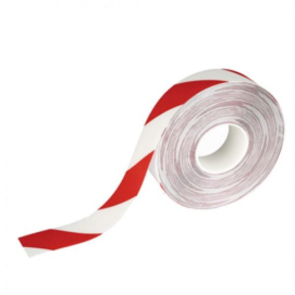 Nastro adesivo da pavimento - extra forte - 50 mm - rosso/bianco - Durable - rotolo da 30 m