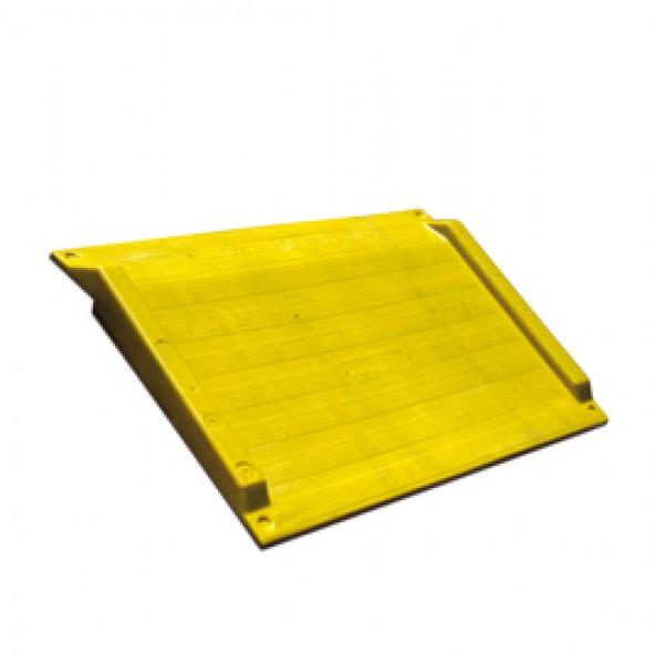 Rampa per scalini - 75x125,6x7,5 cm - giallo