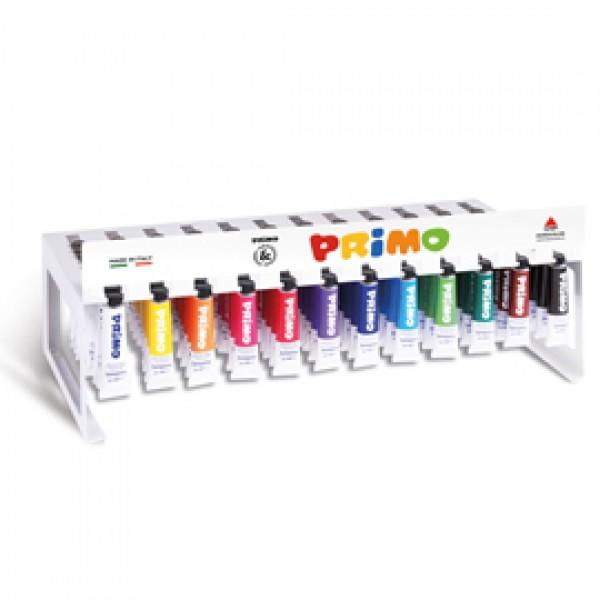 Tempere - 12 ml - colori assortiti - Primo - expo 120 pezzi