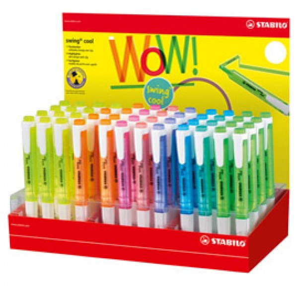 Evidenziatore Swing Cool - colori assortiti - Stabilo - expo 48 pezzi