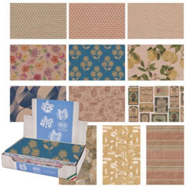 Carta regalo - kraft - Natura - 70 x 100 cm - Rex Sadoch - scatola 100 fogli