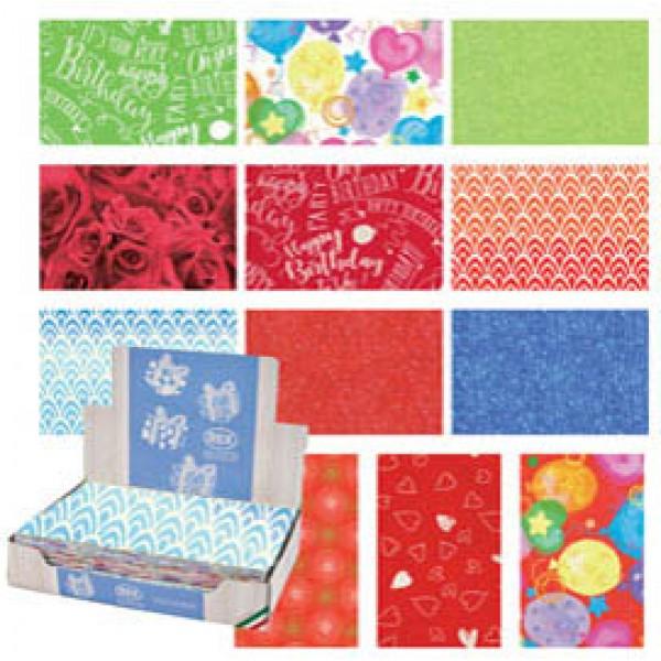 Carta regalo - raso - Colors - 70 x 100 cm - Rex Sadoch - scatola 100 fogli