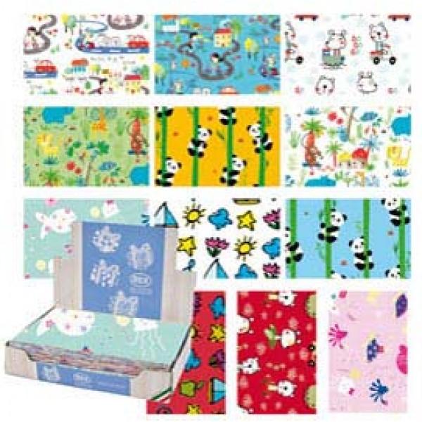 Carta regalo - raso - Bambini - 70 x 100 cm - Rex Sadoch - scatola 100 fogli