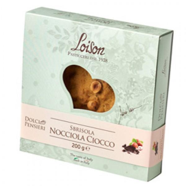 Torta sbrisola nocciola ciocco - 200gr - Loison