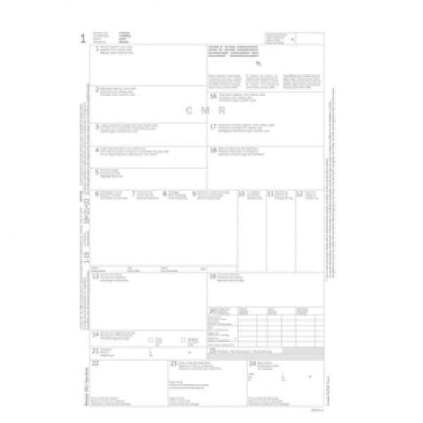 Lettera di vettura internazionale CMR - snap 5 copie autoric. - 31 x 21 cm - DU183160000 - Data Ufficio