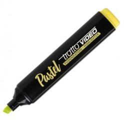 Evidenziatore Tratto Video pastel  - punta a scalpello - tratto da 1,0mm-5,0mm - giallo limone - Tratto