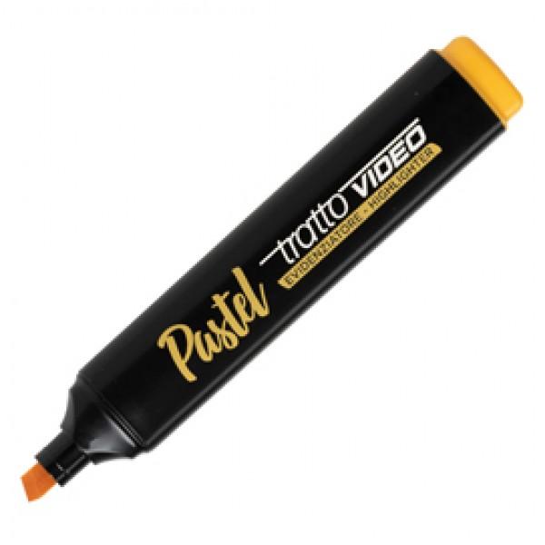 Evidenziatore Tratto Video pastel  - punta a scalpello - tratto da 1,0mm-5,0mm - arancione mandarino - Tratto