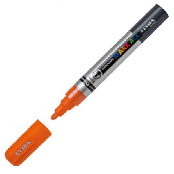Marcatore Graduate Mark All punta tonda arancione Lyra