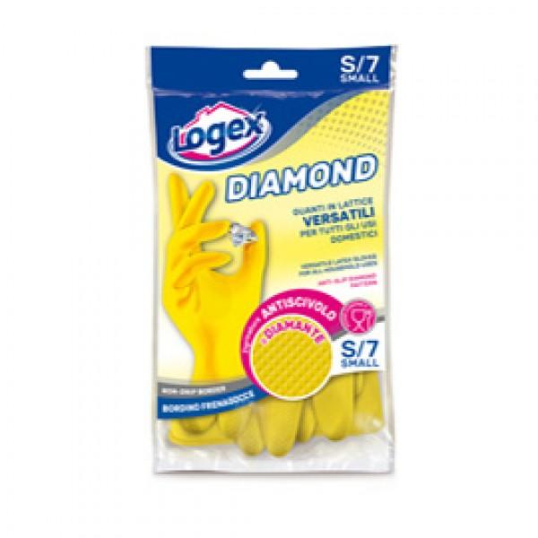 Guanti in lattice Diamond - taglia S - giallo - Logex Professional